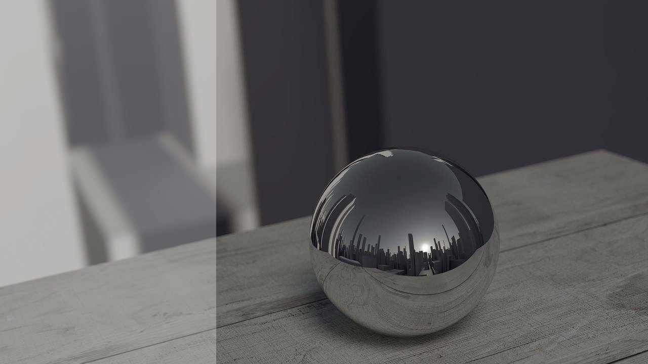 Smart city illustration: reflection of a city on a ball